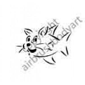 0281 catfish reusable stencil